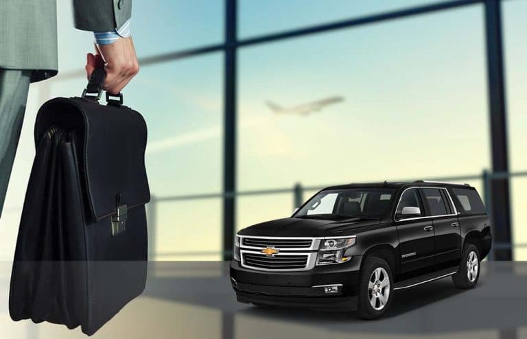 corporate transportation with luxury suv