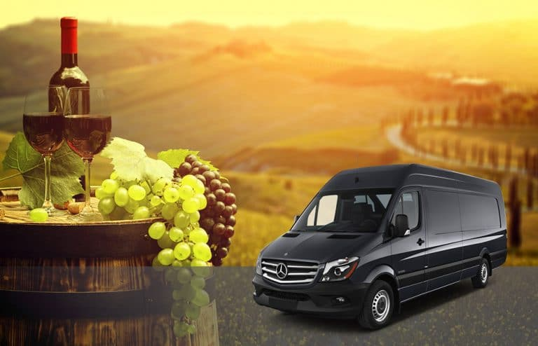 sprinter van available for winery tours