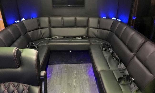 16 passenger mini bus interior