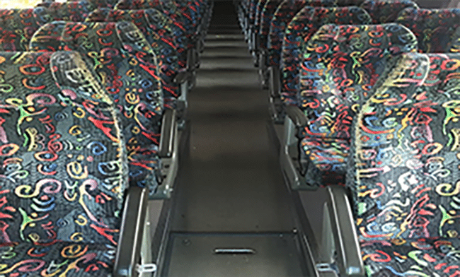 56 passenger bus interior